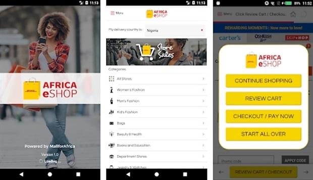 The DHL Africa eShop app