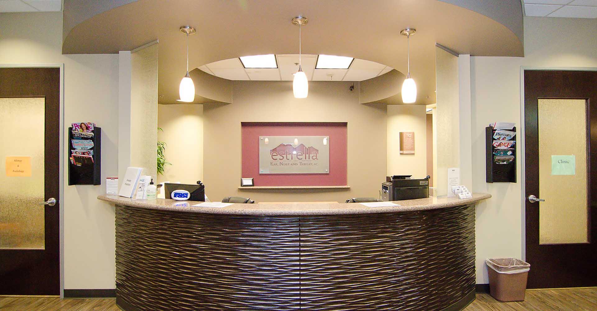 Estrella ENT reception desk