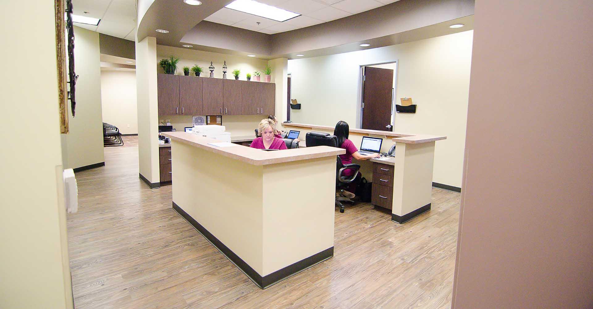 Estrella ENT staff at office desk