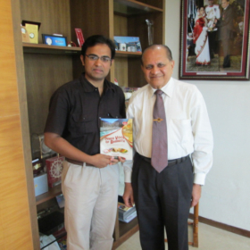 Interviewed Dr Ramdas M Pai on oct31st,2013 at Manipal university, Manipal.