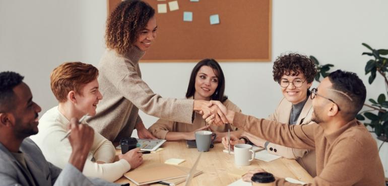 team meeting of Innovation ecosystem