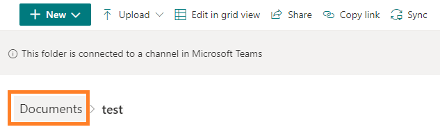 SharePoint Documents directory