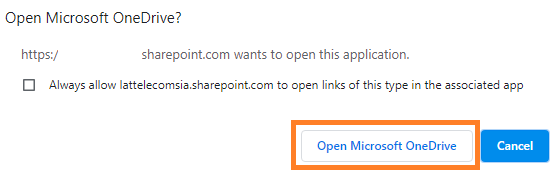 Approve SharePoint synchronization with OneDrive