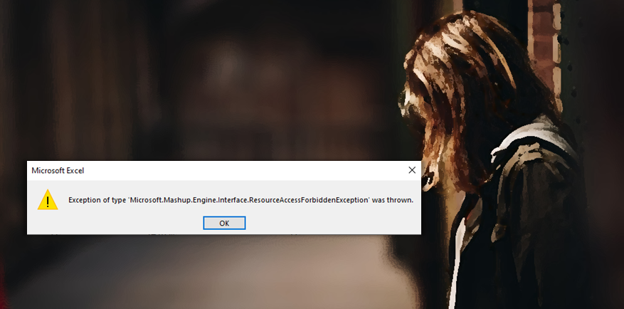 Power Query error: ResourceAccessForbiddenException
