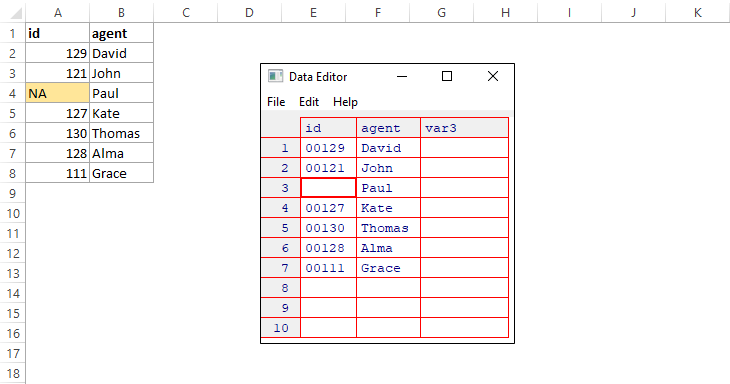Edit R data frame almost like in Excel