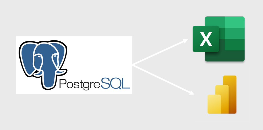 connect to PostgreSQL database with Excel or Power BI