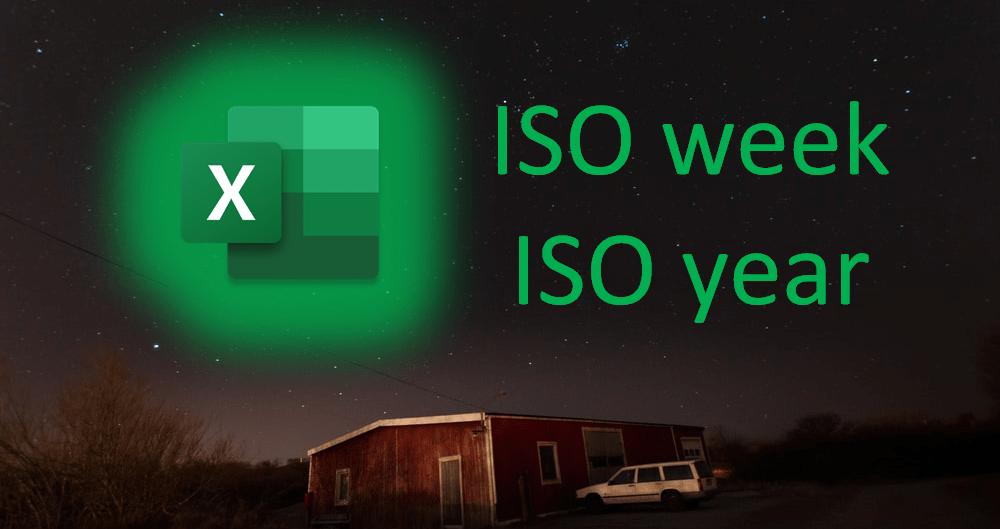 ISO Week in Excel, ISO Year in Excel