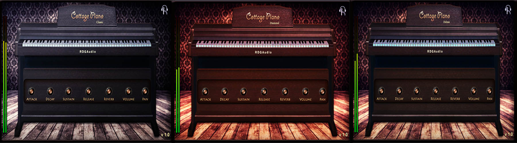 Cottage Piano RDGAudio 3 types models