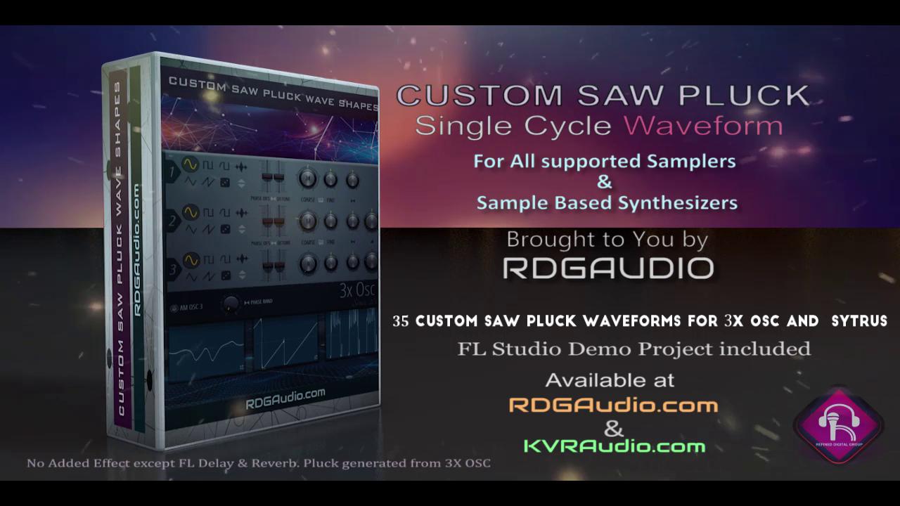 35 Custom Saw Wave Shapes FL Studio 3xosc and all sampler synthesizer