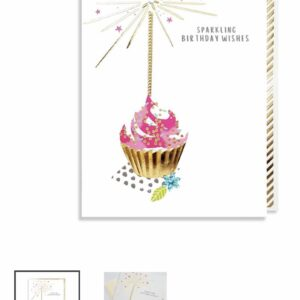 Birthday cupcake with jewels