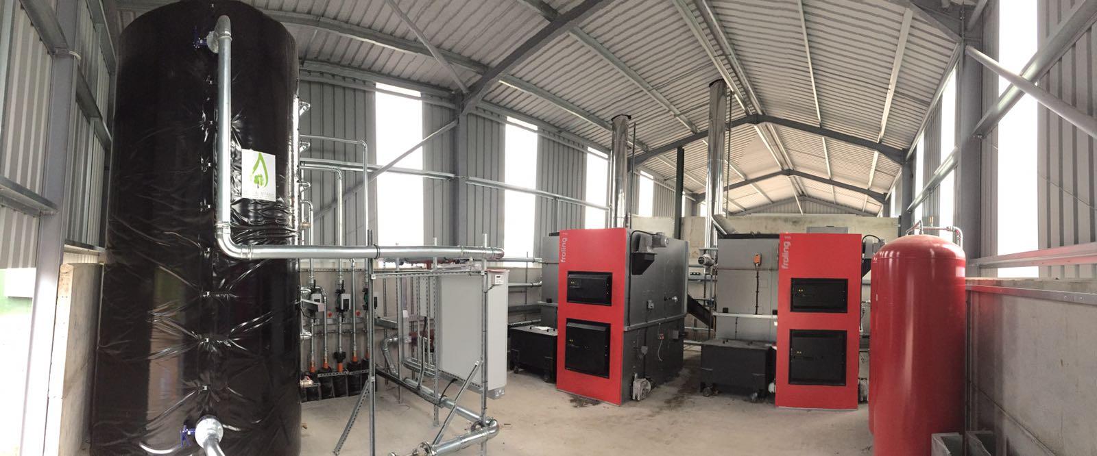 1MW Froling Biomass boiler installation poultry farm