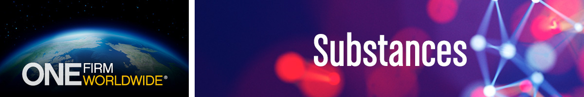 "Header Banner: Substances page. Text - ""Substances"""