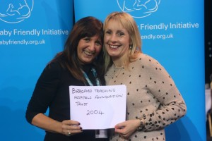 Luisa with Janette Westman who inspired her to get involved with infant feeding when they worked together in Bradford.