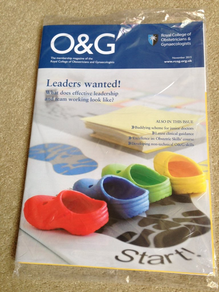RCOG mag – front cover