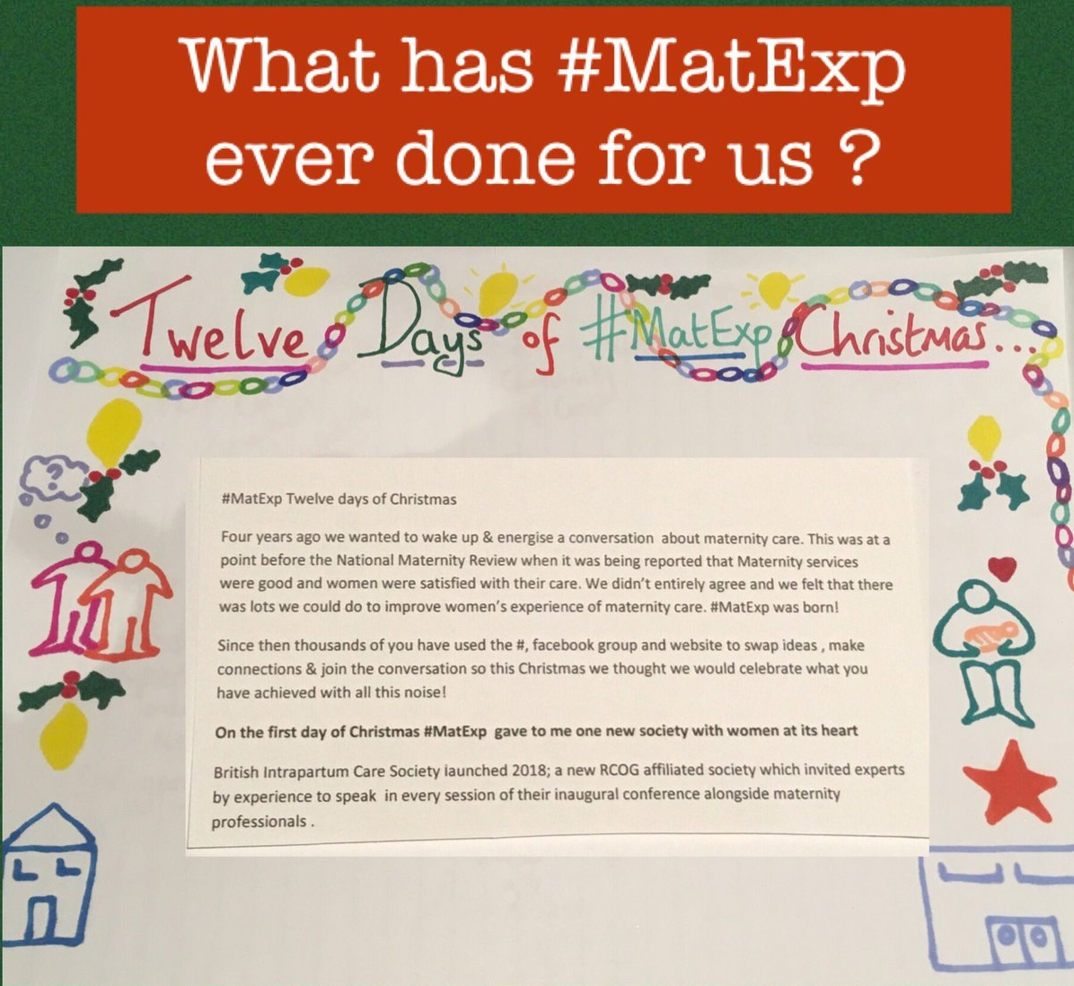 MatExp 12 days of Christmas Day 1