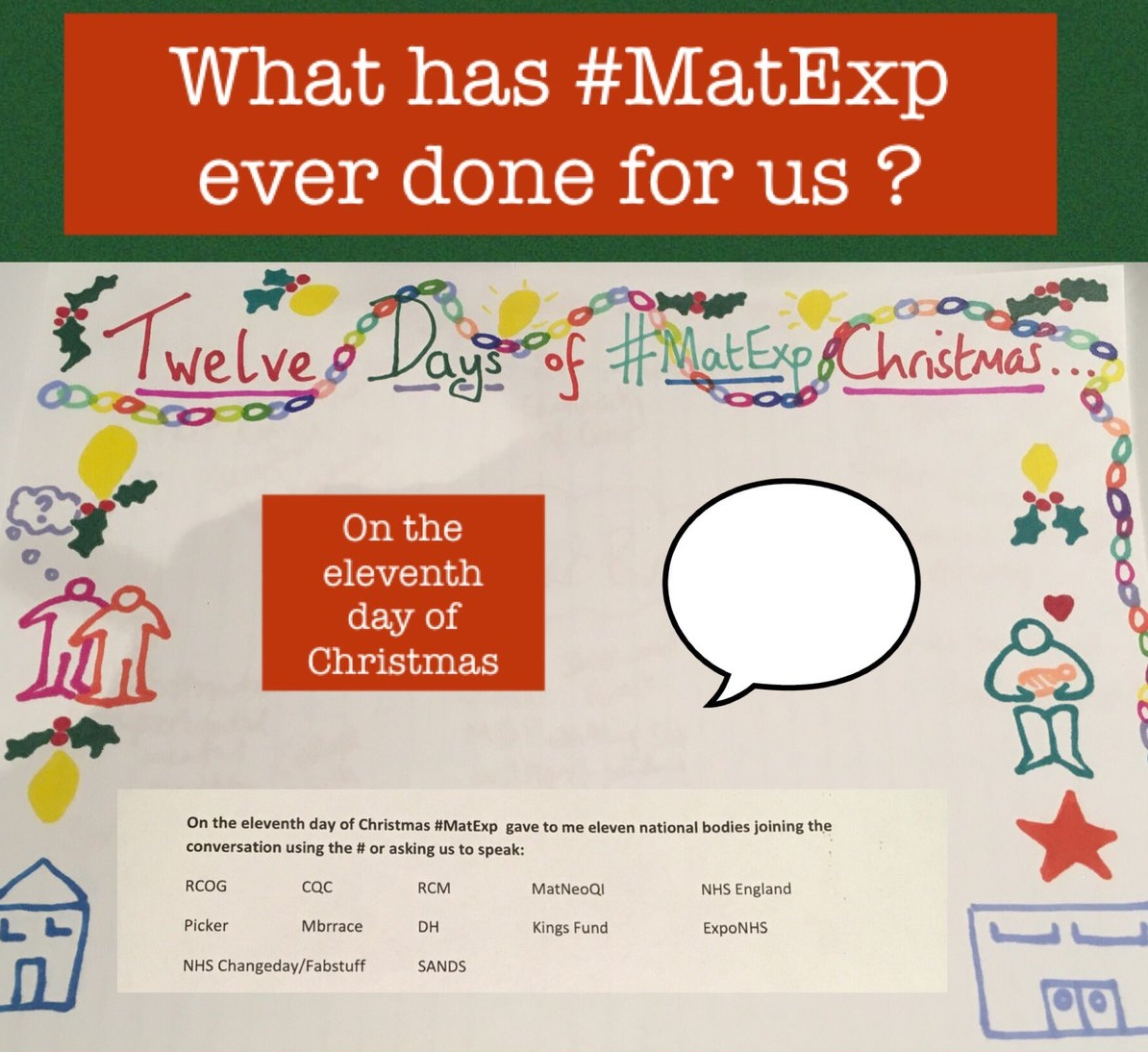 MatExp 12 days of Christmas Day 11