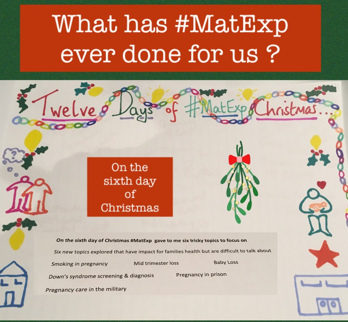 MatExp 12 days of Christmas Day 6