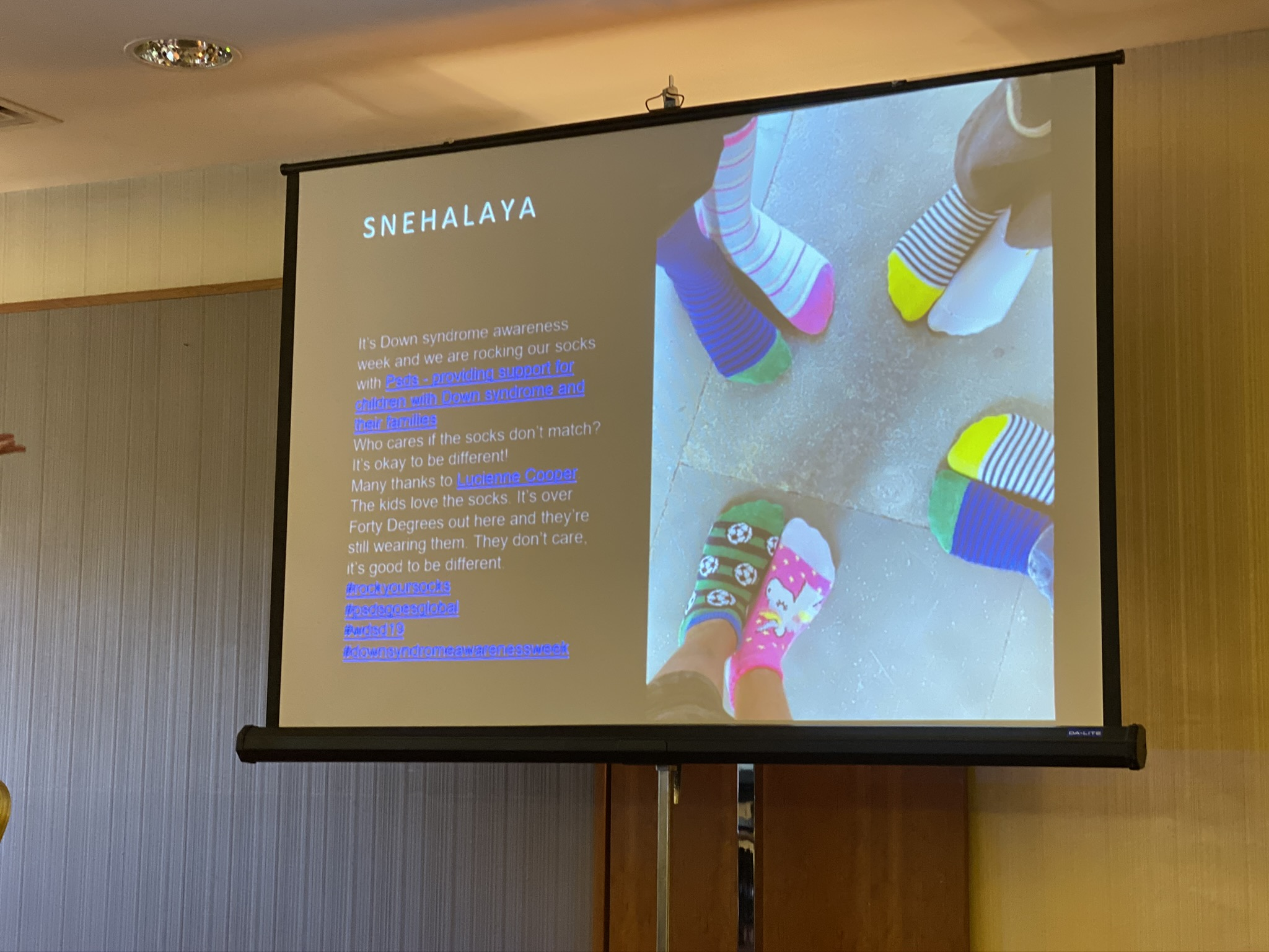 DS – Nicola's conference 9 Lucienne Cooper – socks