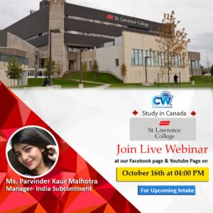 CW International live webinar with st lawrence college