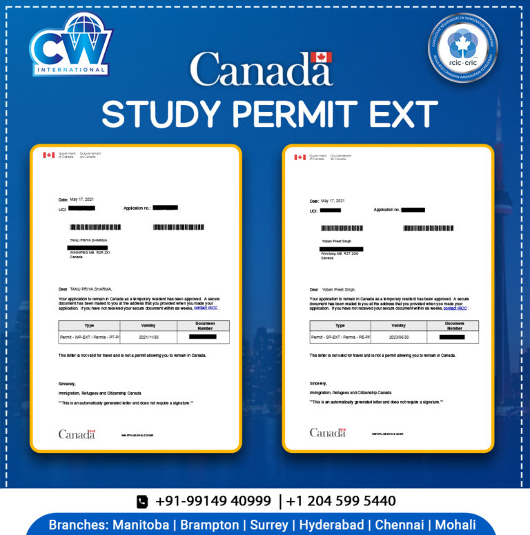 Syudy permit ext approval Letter CW international