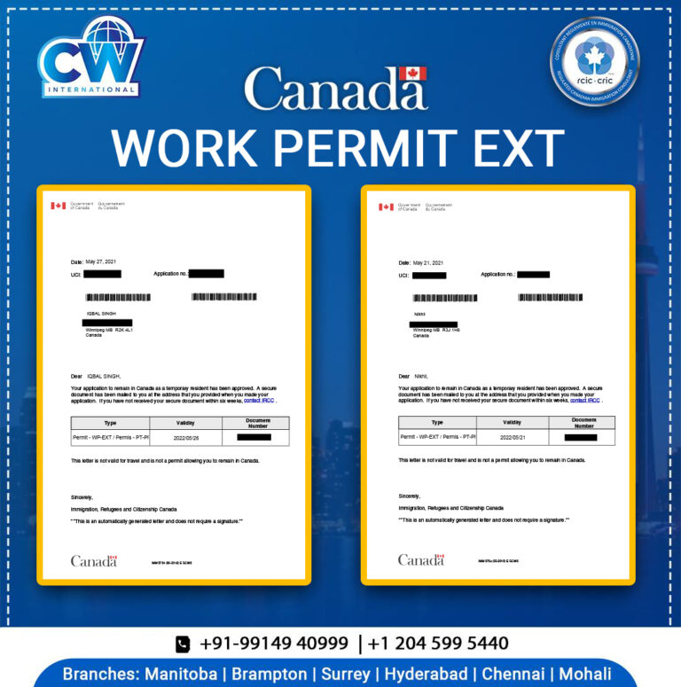 Work Permit ext approval Letter CW international