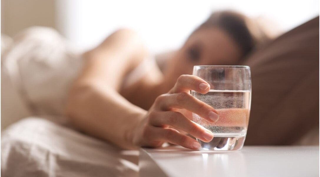 drinking water in the morning