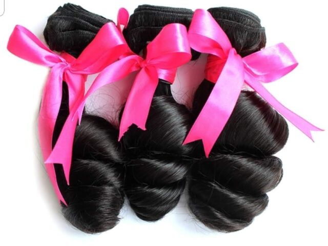 loose curly hair wefts