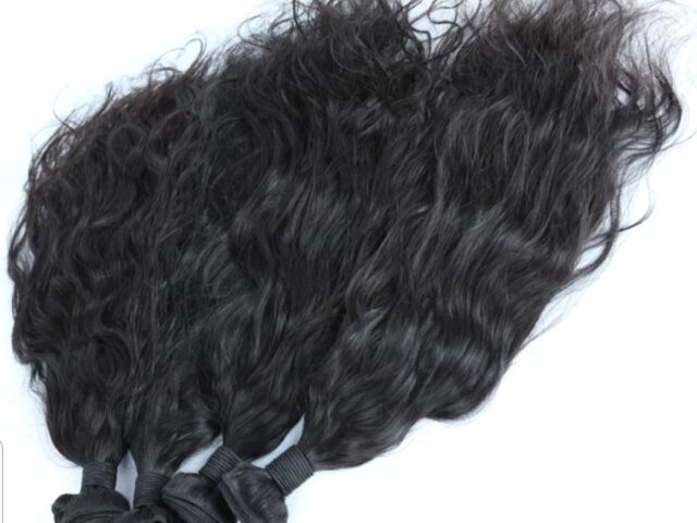 Virgin hair weft UK wavy