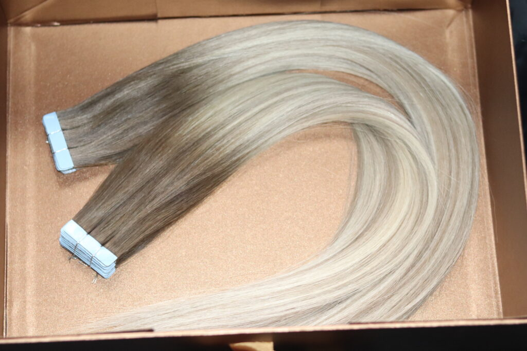 Tape in hair extensions Manchester Cheshire