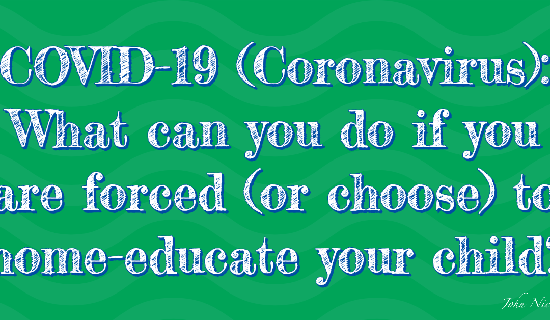 COVID-19 (Coronavirus): What can you do if you are forced (or choose) to home-educate your child?