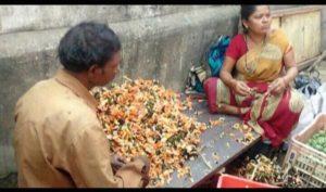 woman with khakara flowers