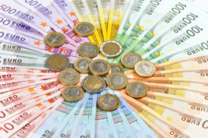 euro coins and banknotes shutterstock