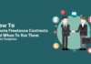how to create freelance contracts header