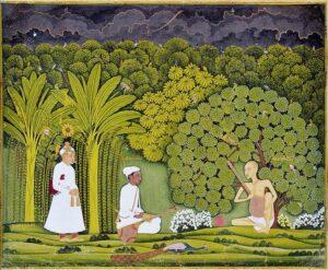 729px Akbar and Tansen visit Haridas