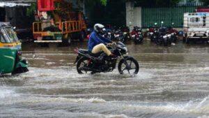 तेलंगाना की बारिश में