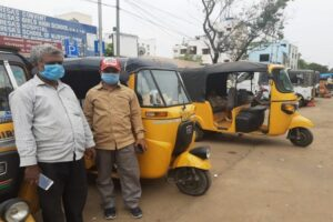 Hyderabad autodrivers two plus one rule min