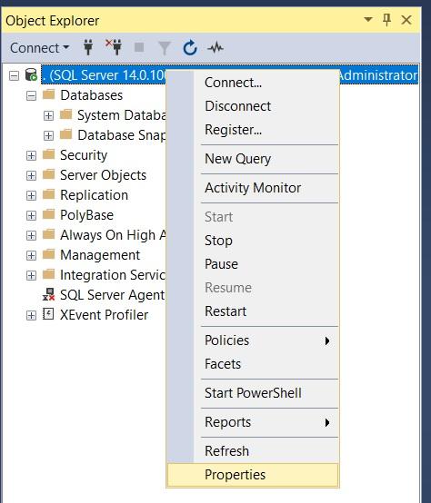 Configuring SQL Server 2017