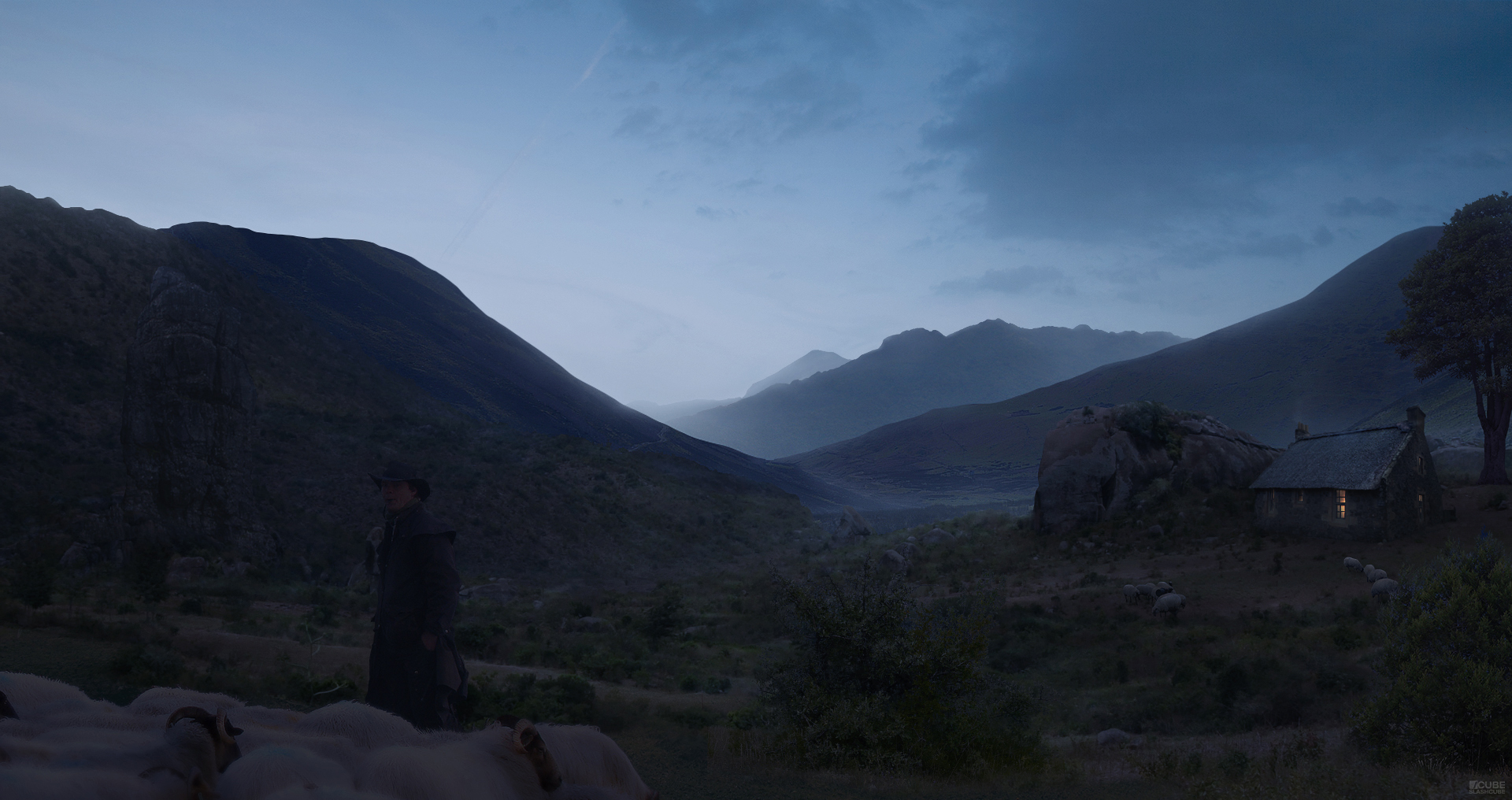 Moody Evening Valley