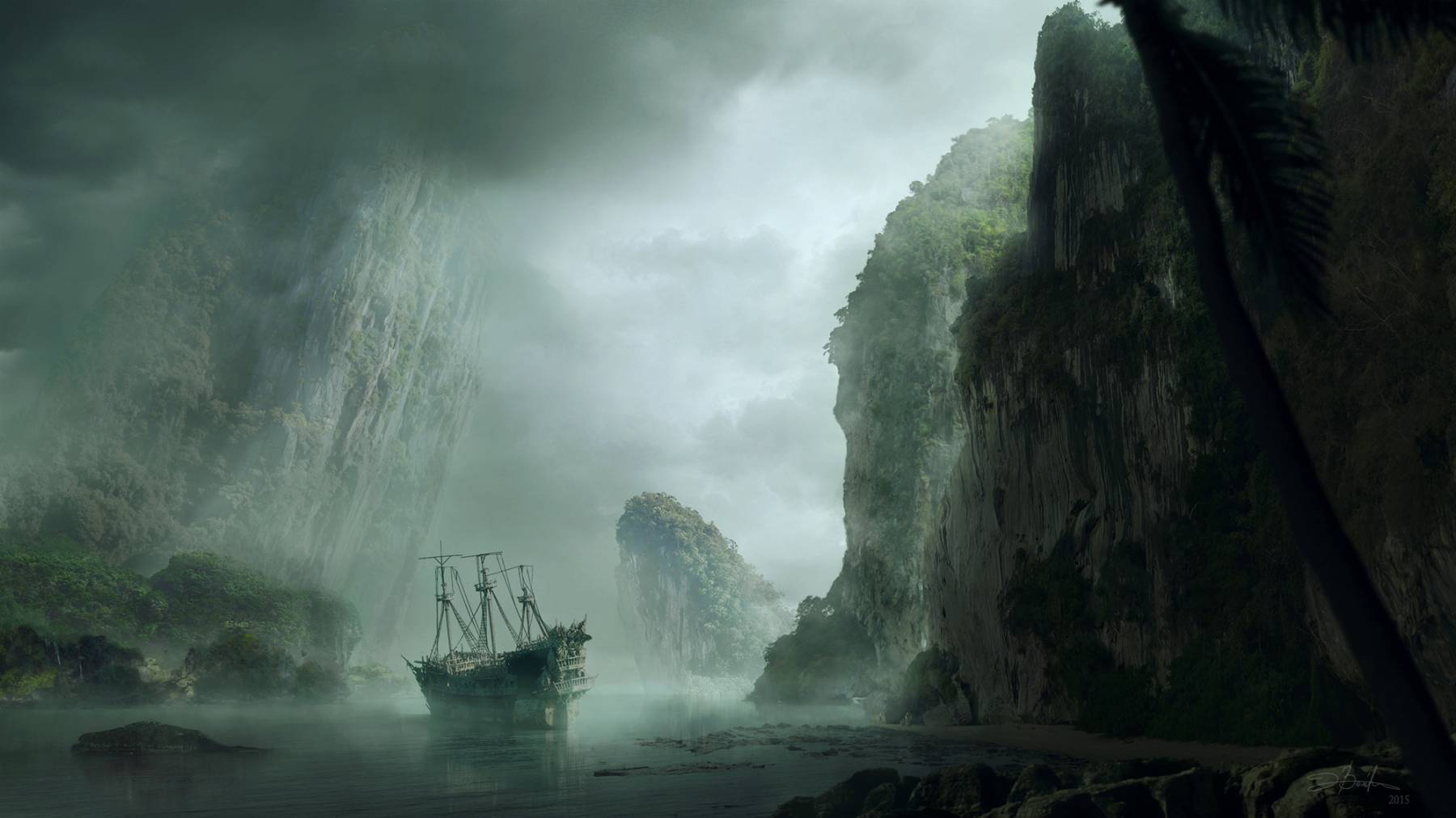 Moody matte painting