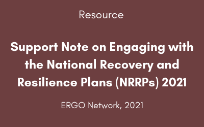 Support Note on Engaging with the National Recovery and Resilience Plans (NRRPs) 2021