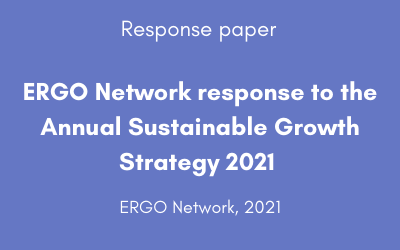 ERGO Network response to the Annual Sustainable Growth Strategy 2021