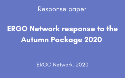 ERGO Network response to the Autumn Package 2020