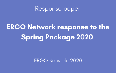 ERGO Network response to the Spring Package 2020