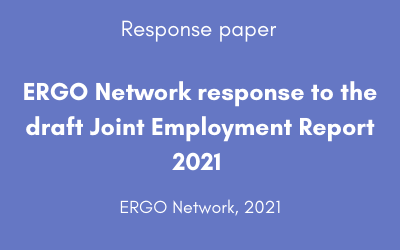 ERGO Network response to the draft Joint Employment Report 2021