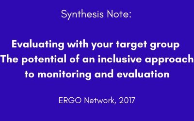 Evaluating with your target group The potential of an inclusive approach to monitoring and evaluation