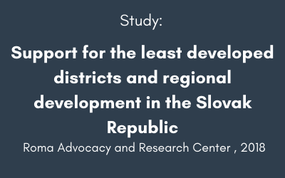 Support for the least developed districts and regional development in the Slovak Republic