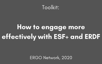 Toolkit: How to engage more effectively with ESF+ and ERDF