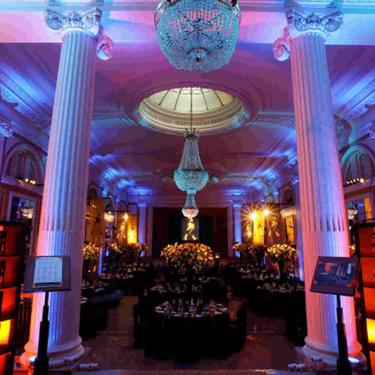 A photo of an elegant reception room at the Gleneagles Hotel during the Johnnie Walker Championship