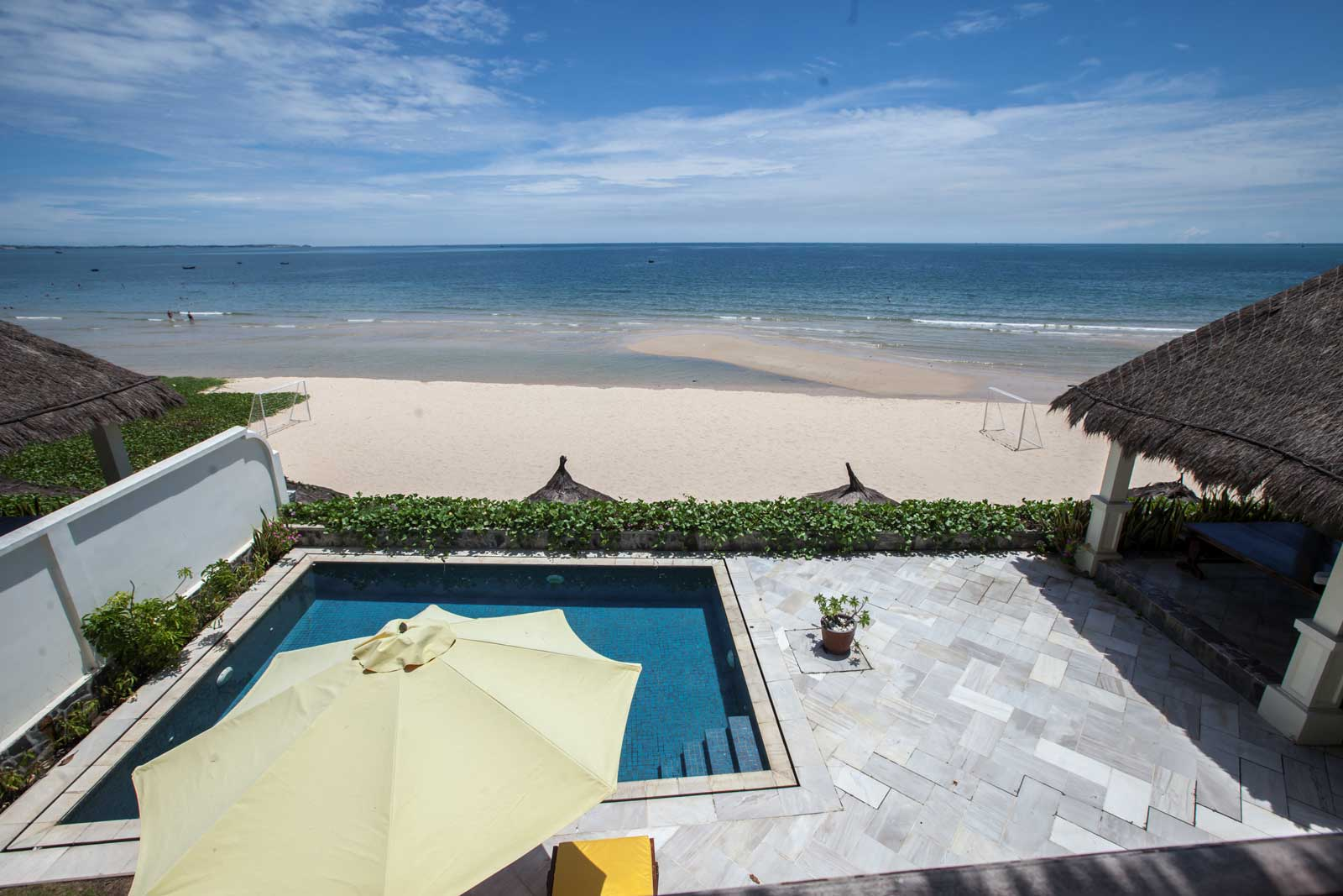beach front private villa