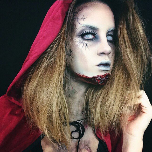 little red riding hood scary look